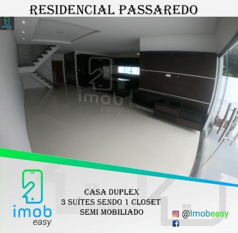 Residencial Passaredo, 3 suítes sendo 1 closet, mobiliado, climatizado