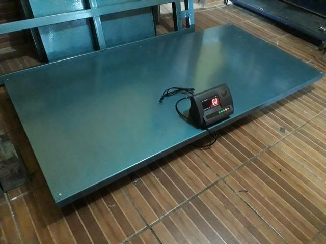 Balança De plataforma 300kg/500kg/1000kg/3000kg Ferro velho/reciclagem - Foto 4