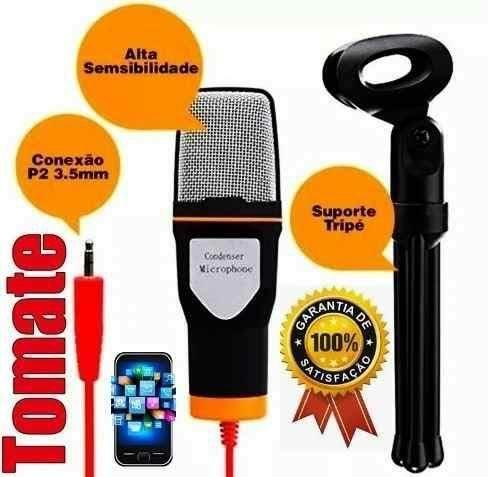 Microfone condensador com tripé - Foto 2