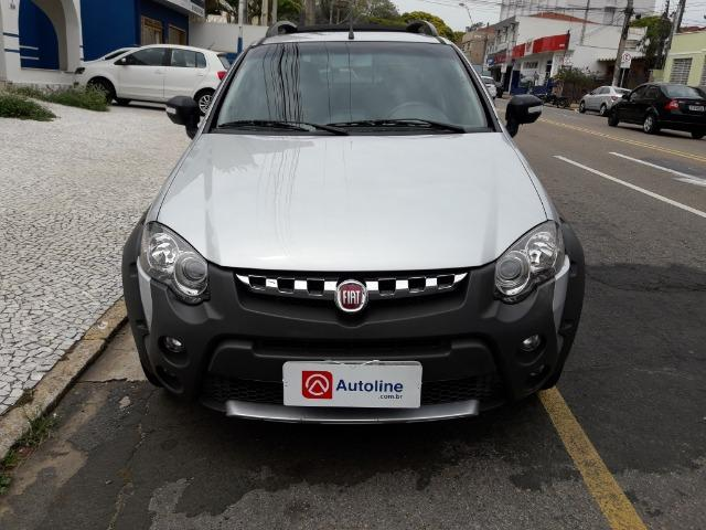 Fiat Strada Adventure 1.8 Flex Cabine Dupla Completa impecavel Baixo KM - Foto 3