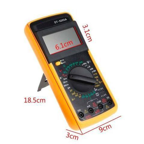 Multimetro Digital Dt-9205a c/ Aviso Sonoro e Display Lcd + Capa (Novo) - Foto 2