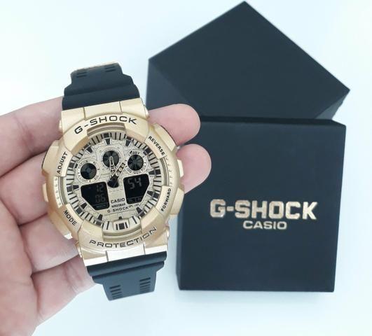 c5ae7dbc047 Relógio G-Shock Casio Preto Dourado Novo - Bijouterias
