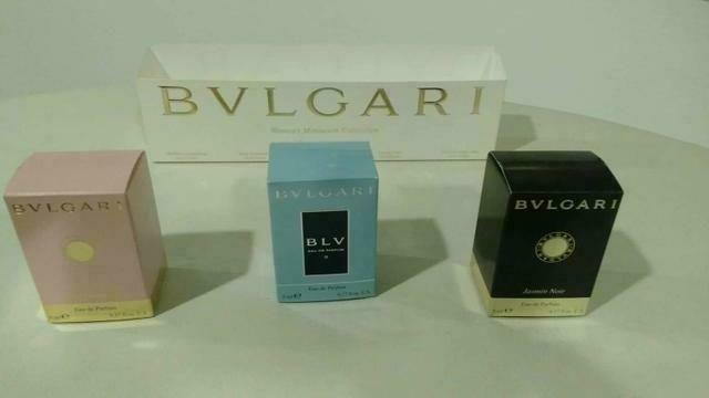 89ab6962cbb Kit 3 miniaturas perfume BVLGARI feminino EAP