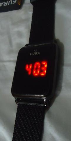7ae7caeade6 Relógio Touch Digital Eura Feminino Série Ouro   Prata   Black - Pulseira  Siliconada