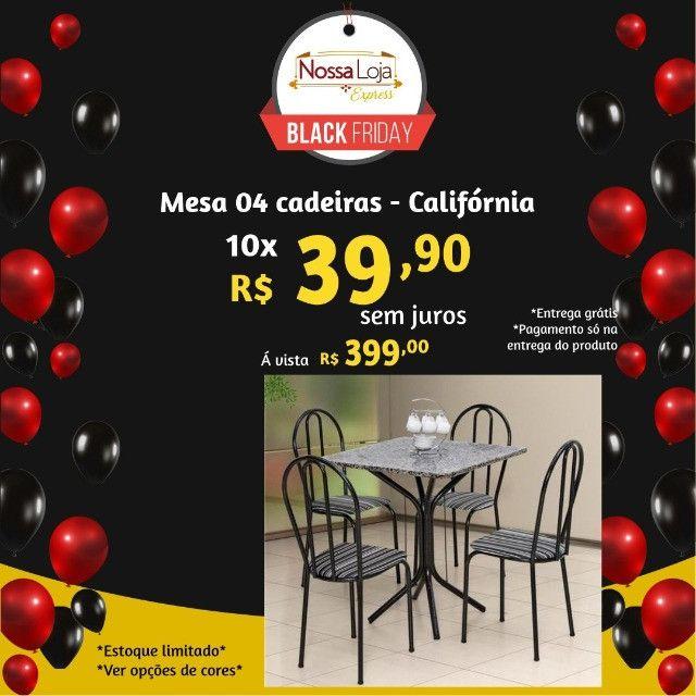 Mesa tubular 4 cadeiras - Araguari - Foto 3