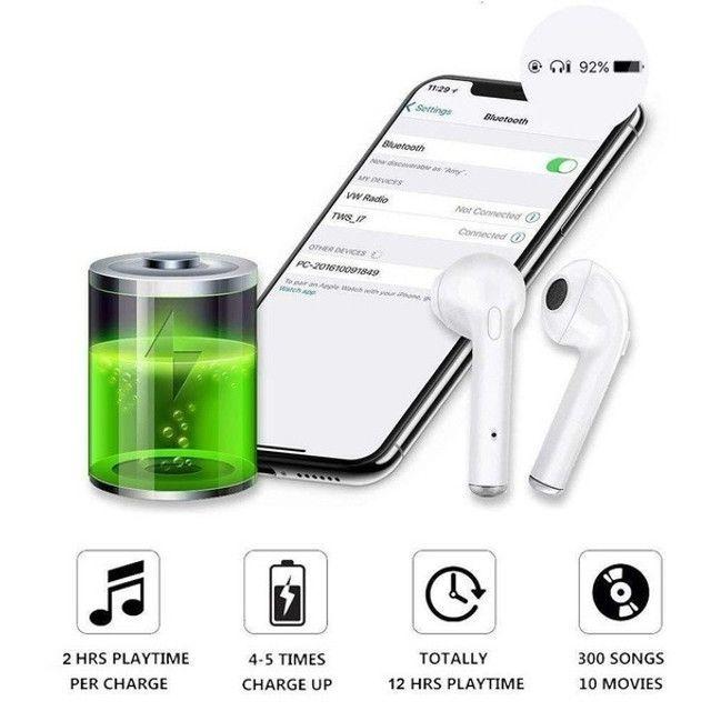 Fone de ouvido i7 tws i7s mini, wireless, bluetooth, headset, com caixa carregadora - Foto 5