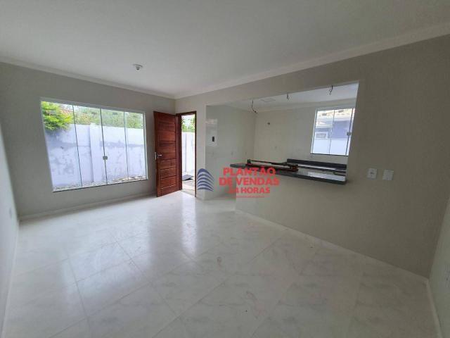 Ótimas casas lineares 3 quartos (opção de piscina e deck) - Enseada das Gaivotas - Rio das - Foto 10