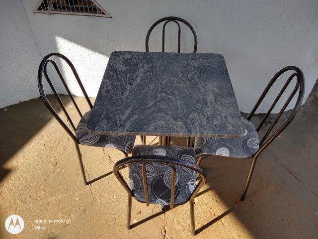 Mesa tubular 4 cadeiras - Araguari - Foto 5