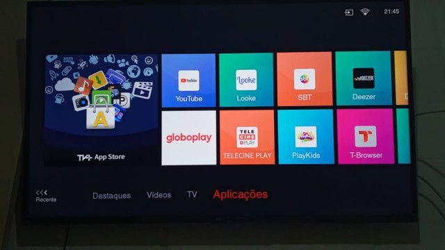 Vendo tv tcl 50 polegadas 4k nova pouco tempo de uso