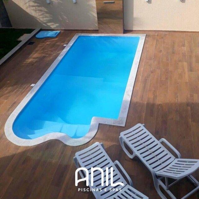 TA- Piscina de fibra 7 metros - Fábrica Anil piscina Divinópolis