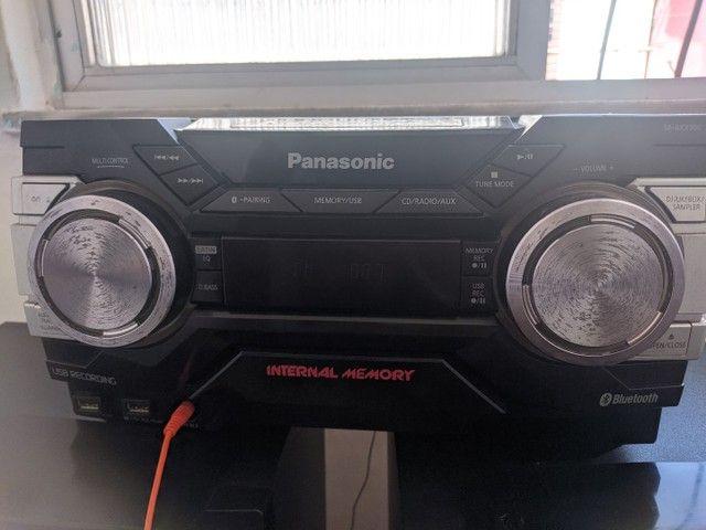 Vendo um som Panasonic semi novo pq ganhei outro por 600 reais Cel * - Foto 3