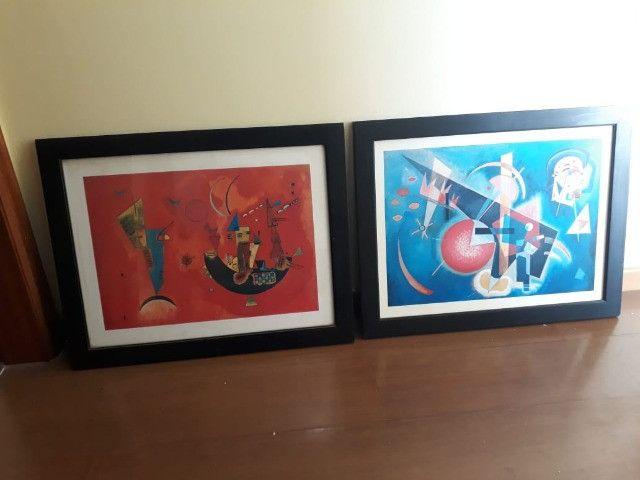 2 quadros decorativos abstratos 67cm x 53cm cada - Foto 2