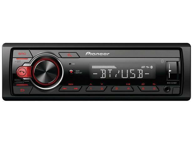 Som Automotivo Pioneer MP3 Player Rádio AM/FM - Bluetooth USB Auxiliar MVH-S218BT<br><br>
