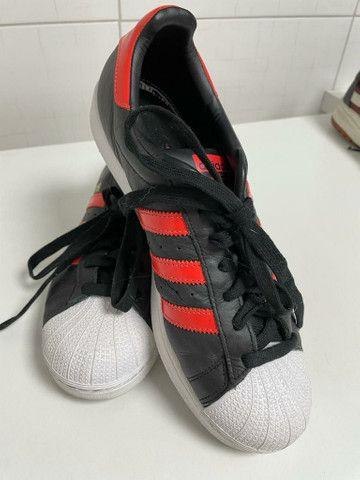 Tênis Adidas Superstar (Vermelho e Preto) Original