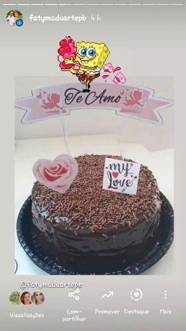 kit com bolo vulcão para o dia dos Namorados - Foto 4