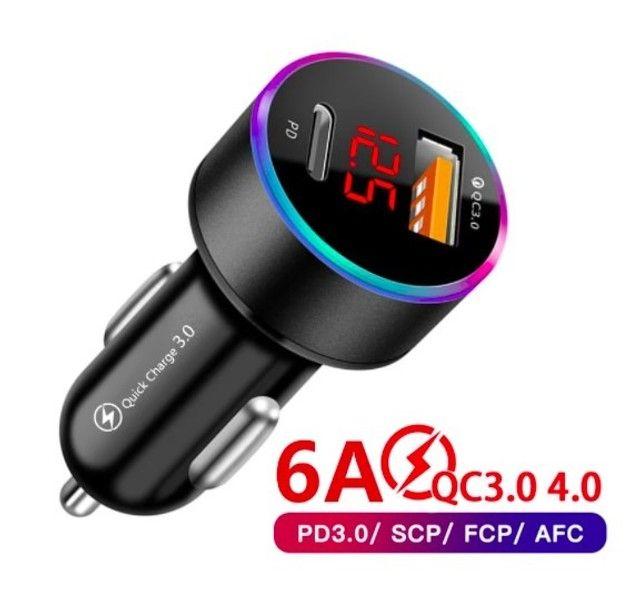 Carregador Veicular 36w qc 3.0