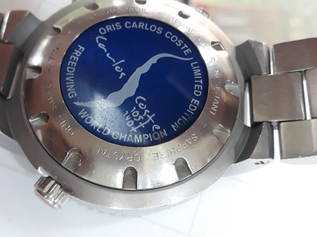 Relógio Oris Carlos Coste Chronograph Limited Edition - Foto 6