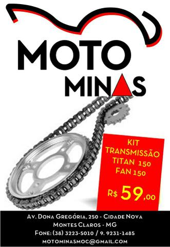 Kit Transmissão Titan Fan 150