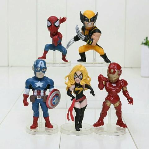 Conjunto Vingadores - 5 peças (Pronta Entrega)