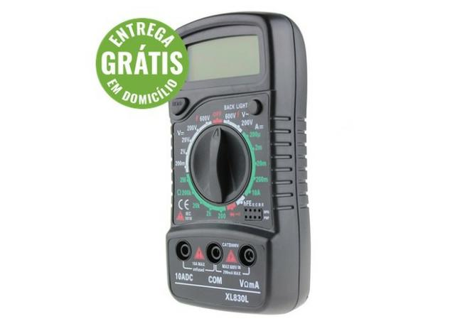 Multímetro digital portátil acdc medidor de tensão - entrega grátis