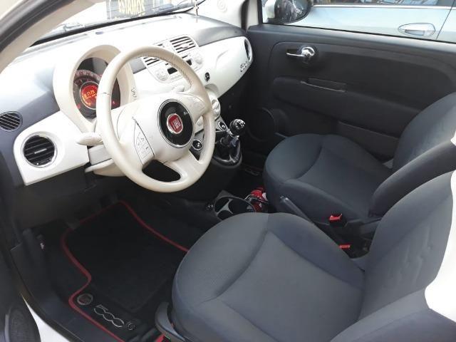 Fiat 500 Perola!! Financio Sem Ent. nao ka c3 onix 208 kwid up hb20 cooper mobi uno gol - Foto 8