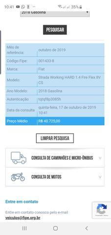 FIAT STRADA Hard Working 1.4 Único Dono - Foto 7