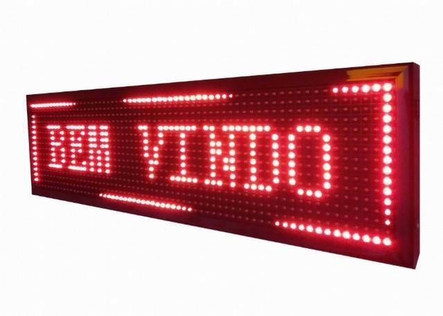 Letreiro Digital Painel de Led Azul ou Vermelho Luminoso 1,30 x 0,20m c/ Usb (Novo) - Foto 3
