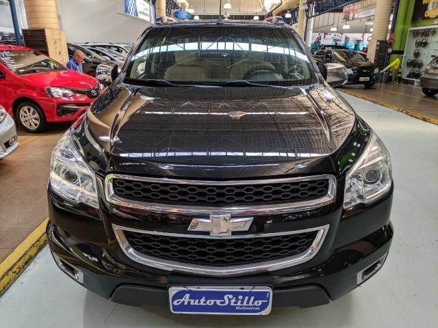 Chevrolet S10 LTZ 2.8 Diesel Cab Dupla 2014 Automática Preta (Completa + Couro) - Foto 3