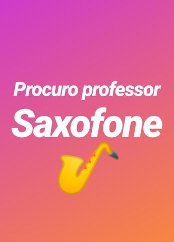 Procuro professor de Sax
