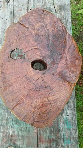 Vendo mesa centro rustica bolacha de tronco - Foto 3