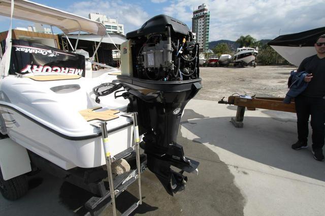 Focker 160 2012 Motor 75 HP 2 tempos. Aceito carro no negócio. lancha top - Foto 5