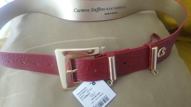 229c0b9c98f Cinto vermelho Carmen Steffens - Bijouterias