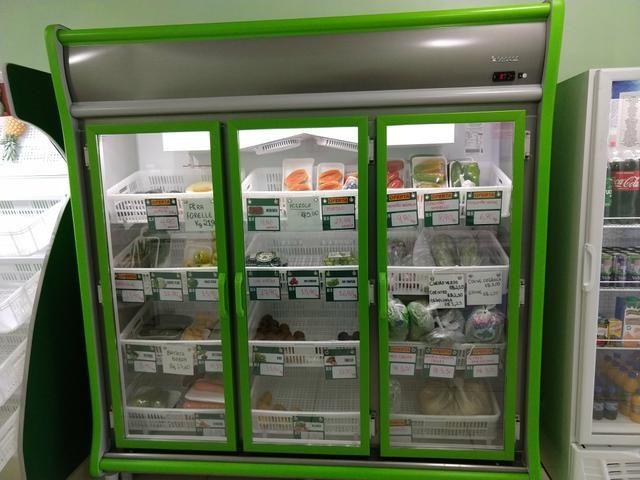 Expositor refrigerado para frutas