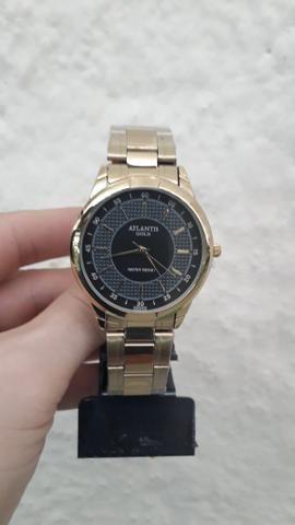 624810790b8 Relógio Atlantis Feminino Dourado - Bijouterias