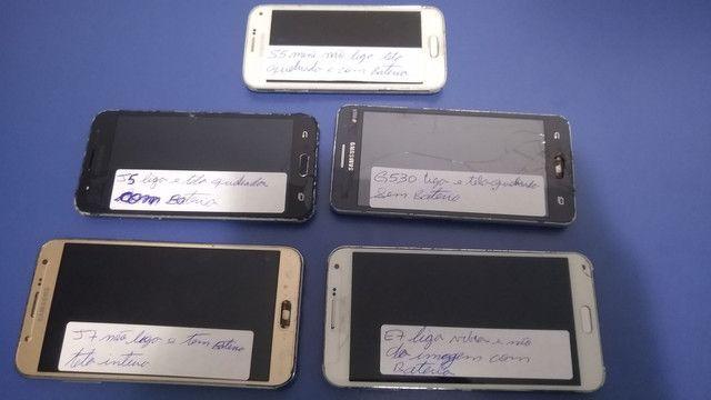 Lote de celular para sucatear ou consertar no estado