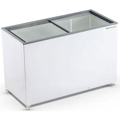Freezer horizontal com tampo de vidro 411 litros