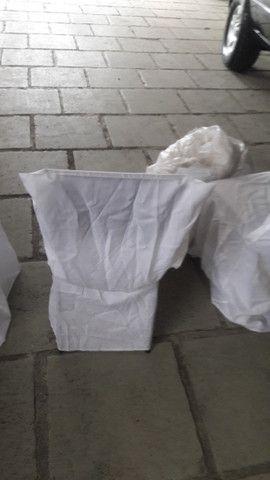 Capas cadeira para eventos e festas-barbada -cor branca -valor: 3,50 a un