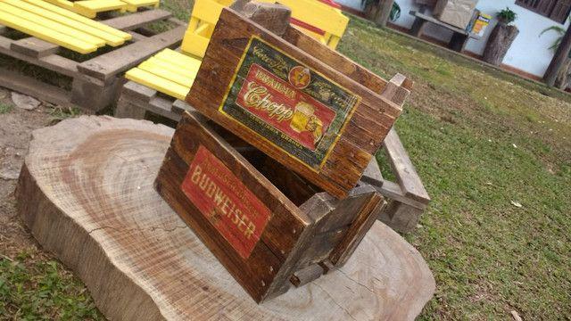 Caixote Vintage cerveja