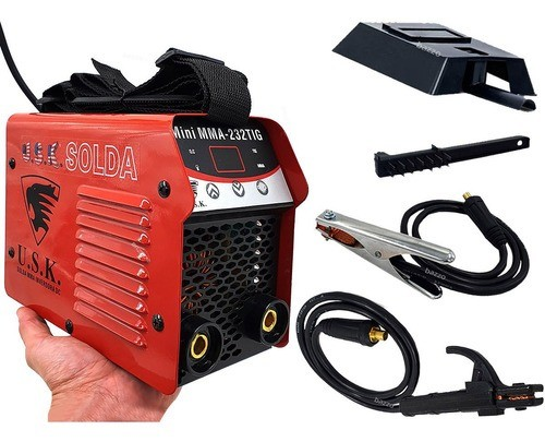 Maquina Solda Inversora Mini 232 Eletrodo Mma Tocha Tig Usk