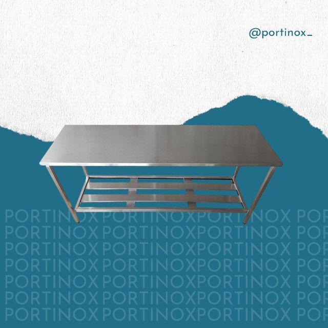Mesa inox com paneleiro - Portinox somos fabricantes