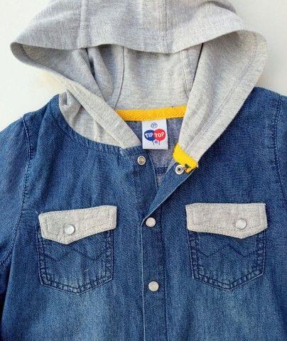 Camisa jeans menino Tam 3 - Foto 2