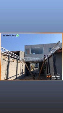 Mezaninos Metálicos,  mezaninos casa,  mezaninos comércio, escadas retas e caracol  - Foto 2