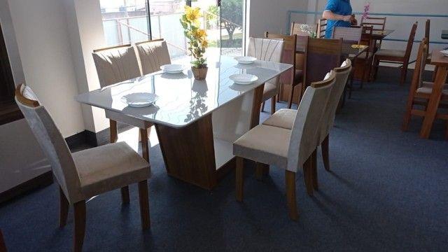 Mesa de Jantar 6 Cadeiras Apogeu - Foto 4
