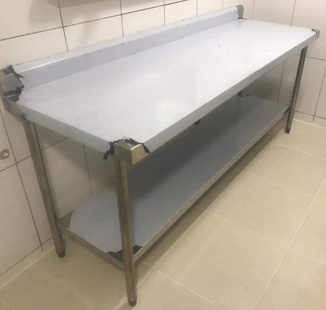 Bancada de aço inox mesa de aço inox  - Foto 4