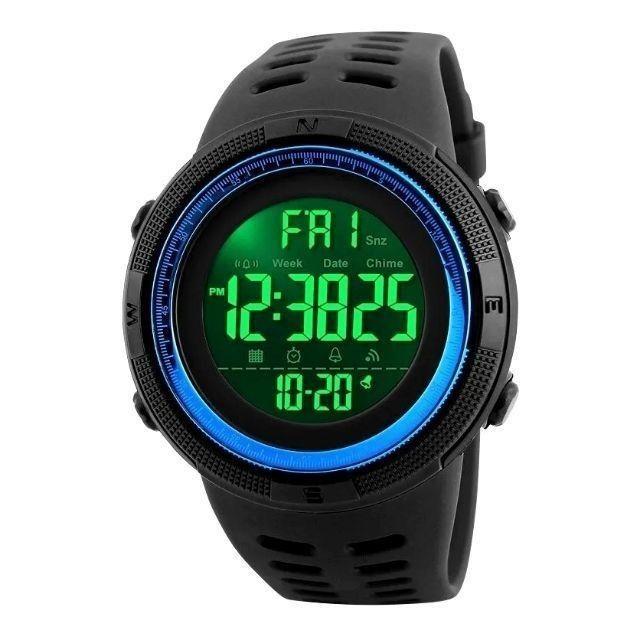 Relógio Masculino Skmei 1251 Preto/Azul 5ATM Original
