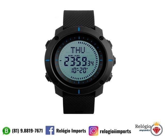 Relógios digital masculino preto  - Foto 2