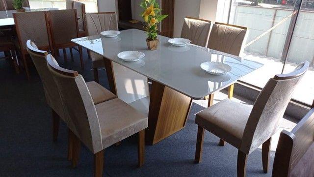 Mesa de Jantar 6 Cadeiras Apogeu - Foto 5