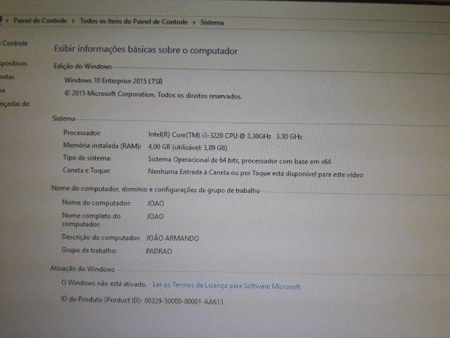 Vendo Computador Proc. i3-3220 - SSD300Gb - 4G de RAM - Foto 4