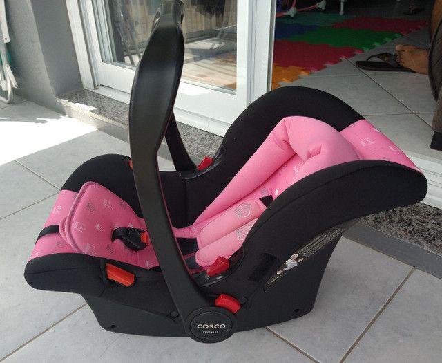 Bebê conforto cosco Nexus rosa coroa - Foto 4