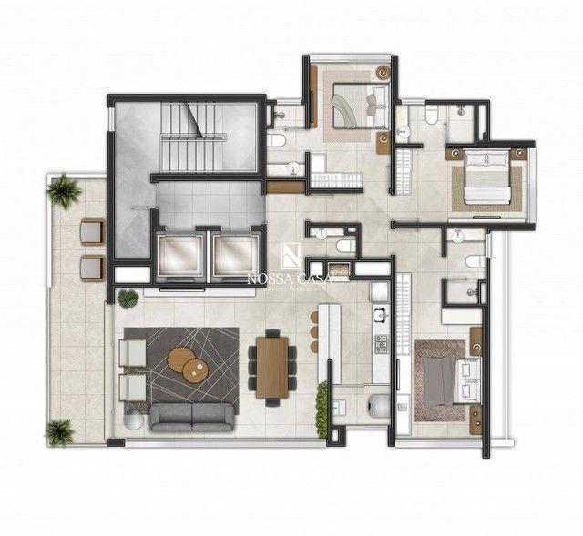 Apartamento com 03 suítes, lavabo, 02 box de garagem no Di Milano em Torres/RS - Foto 14